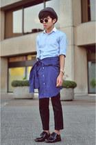 sky blue custom made shirt
