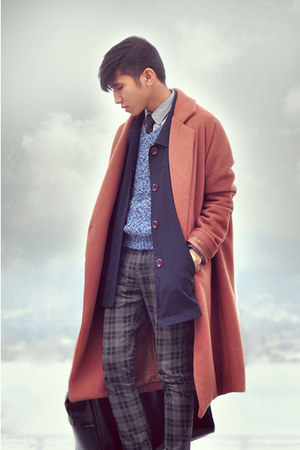 OAK  FORT coat - vintage coat - vintage sweater - H&amp;M pants