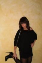vintage dress - Gap tights - BCBG boots