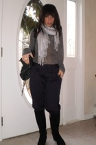 scarf - alternative apparel shirt - Thakoon for Target pants - AquaItalia boots