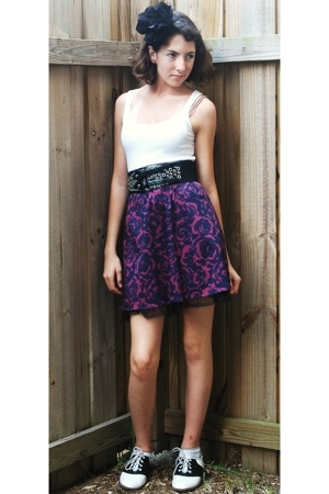 Forever21 skirt - Marshalls belt - payless shoes