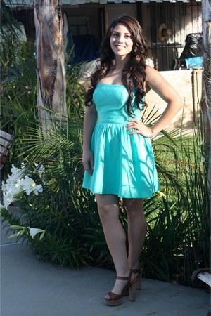 aquamarine Forever 21 dress - light brown Madden Girl heels
