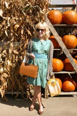 dress - sunglasses - purse - shoes