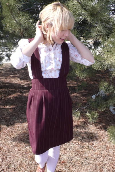 Homemade skirt - thrifted blouse - thrifted shoes