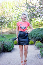 leather H&M skirt