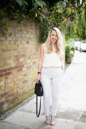 white trousers asos pants