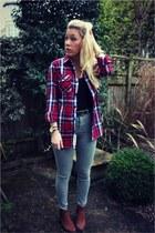 lumberjack Superdry shirt - jamie Topshop jeans