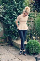 peplum lavish alice top - disco pants American Apparel leggings