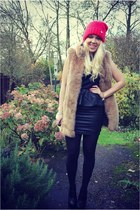 peplum AX Paris dress - fur Zara jacket