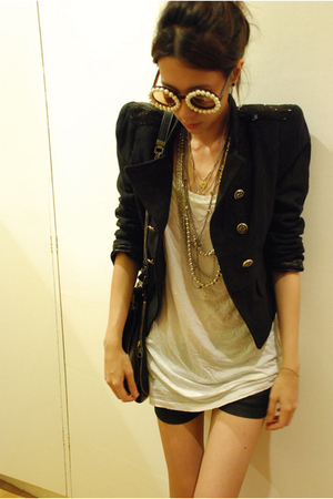 ployy sunglasses - random from Bangkok jacket - Topshop top