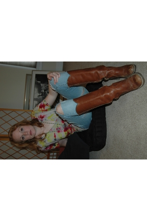 American Apparel shirt - forever 21 jeans - Frye boots