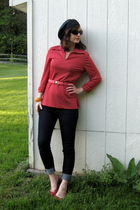 red blouse - blue Forever21 jeans - red Mossimo Supply shoes - pink Urban Outfit