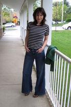 blue shirt - blue Mossimo jeans - brown xhiliration shoes - green Chadwicks blaz