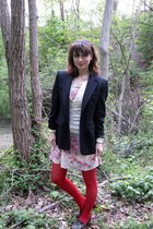pink H&M dress - white Old Navy cardigan - gray Ralph Lauren blazer - red We Lov