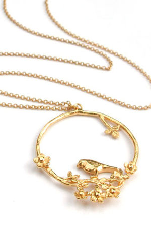 gold alex monroe accessories