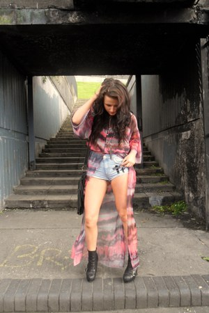 watercolour UNIF jacket - Topshop boots - DIY shorts