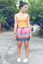 salmon Pill clothing skirt - carrot orange top