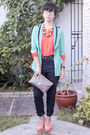 Chick-flick-blazer-envelope-clutch-mauve-bag-thesa-blouse