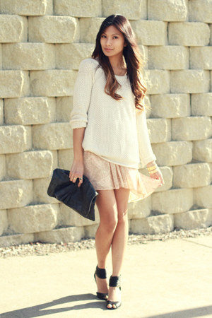 neutral Dolce Vita dress - cream Honey Punch sweater