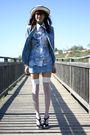 Blue-vintage-suit-blue-vintage-blouse