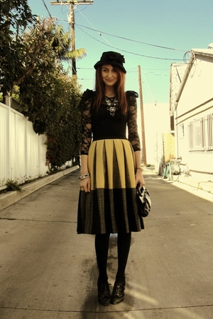black wwwshopnasygalcom shirt - gold Trash Pretty skirt