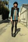 Trash-pretty-blouse-vintage-versace-shorts-h-m-blazer-jeffrey-cambell-shoe