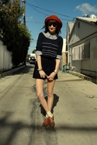 blue magazine shirt - blue silence and noise sweater - blue Swellegant shorts