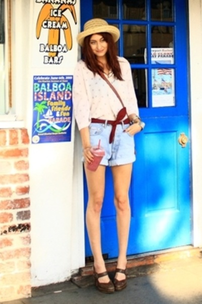 blue Guess shorts