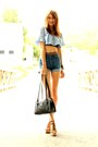 Sky-blue-acne-shorts-sky-blue-mothers-and-daughters-vintage-blouse