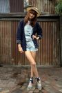 Blue-vintage-shorts