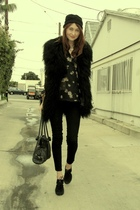 black holy g vest - black vintage shirt - black jeffery cambell shoes