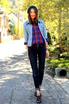 vintage blouse - James Jeans jeans - vintage jacket - La Bella Bleu loafers