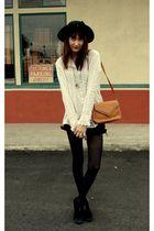 white Goodwill shirt - black versace shorts