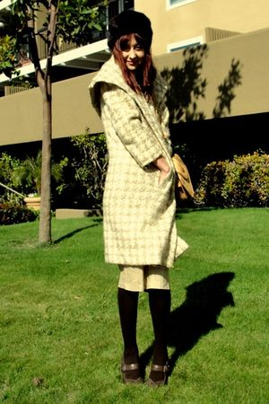 beige thrift coat