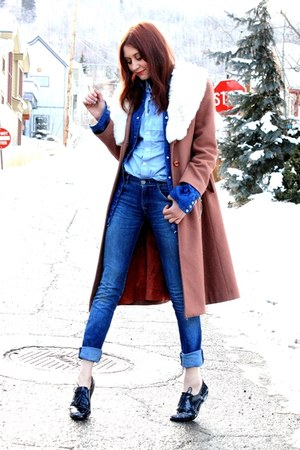 vintage jacket - dl1961 jeans - Wrangler top - Kenneth Cole flats - vintage top