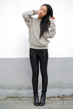 stripe American Apparel jumper - American Apparel pants