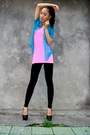 Vintage-shirt-h-m-top-black-american-apparel-leggings-shoes