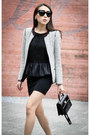 White-tweed-zara-blazer-black-patent-louis-vuitton-bag