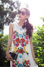 White-printed-alice-mccall-dress-black-celine-sunglasses