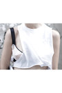 White-neoprene-caseable-bag-white-cropped-thrifted-top