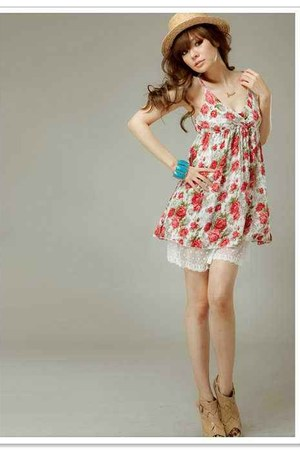 floral dress Bershka dress