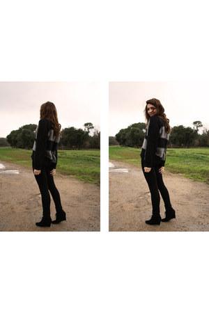 black ANDRE shoes - black Cimarron jeans - charcoal gray Kookai jumper