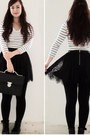 White-h-m-shirt-black-h-m-skirt