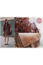 dark brown Flea Market Spain bag - black Flea Market Spain dress