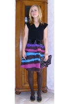 H&M shirt - H&M belt - H&M dress - vintage via Ebay accessories - Tally Weijl ac