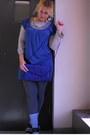 Blue-dkny-dress