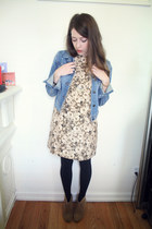 madewell dress - Aldo boots - Forever 21 jacket - madewell necklace