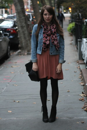 Aldo boots - cotton on dress - Forever 21 jacket - Urban Outfitters scarf