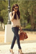 PERSUNMALL blouse - Mango jeans - heels