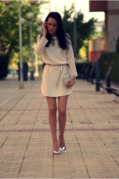 Zara dress -  bag - Bershka heels
